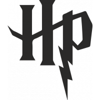 Sticker Harry Potter logo 2