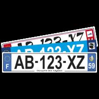 PLAQUE  AUTO  52x11 cm (Taille standard)