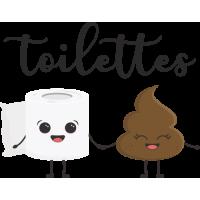 Sticker Toilettes Mignon
