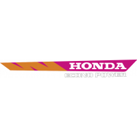 Autocollant Honda Moto Econo Power Droite