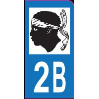 Sticker immatriculation moto 2B - Haute-Corse