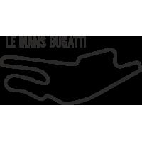 Sticker Circuit Le Mans Bugatti