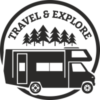 Sticker Déco Baril Camping car 2