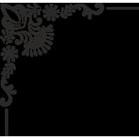 Sticker Coin Mur Fleurs