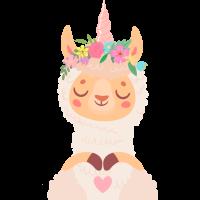 Sticker Lama Licorne
