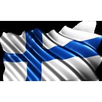 Autocollant Drapeau Finlande