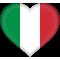 Autocollant Drapeau italien coeur