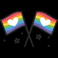 Sticker Drapeau LGBT Gay 2