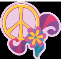 Sticker Peace and Love Fleure Violette