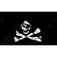 Autocollant Drapeau Pirates 1