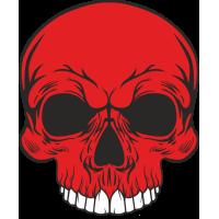 Sticker Red Skull 2