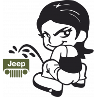 Autocollant Piss Girl Jeep