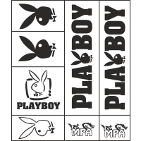 Kit Stickers Playboy