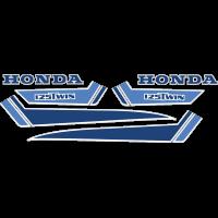 Kit Autocollants Honda Twin 1979 Bleu Full