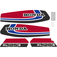 Kit Autocollants Honda 125 Xls 1979 Rouge Full