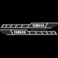 Kit autocollants Yamaha 125 RDX 1E7 1978 réservoir noir