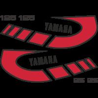 Kit autocollants Yamaha 125 TY 1K6 Rouge