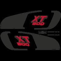 Kit autocollants Yamaha 500 XT 1U6 2H1 1979 Réservoir Europe