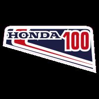 autocollant HONDA_100_GAUCHE