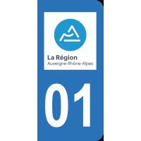 Sticker Immatriculation 01 - Ain - 2
