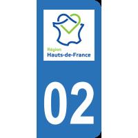 Sticker Immatriculation 02 - Aisne - 2