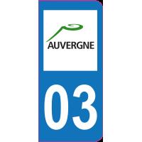 Sticker immatriculation 03 - Allier
