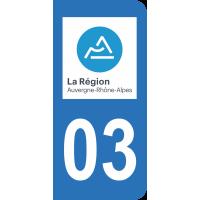 Sticker Immatriculation 03 - Allier - 2