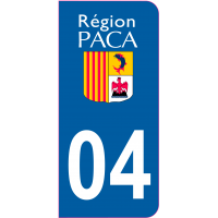 Sticker immatriculation 04 - Alpes-de-Haute-Provence
