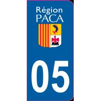 Sticker immatriculation 05 - Hautes-Alpes