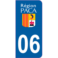 Sticker immatriculation 06 - Alpes-Maritimes