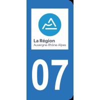 Sticker Immatriculation 07 - Ardèche - 2