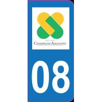 Sticker immatriculation 08 - Ardennes