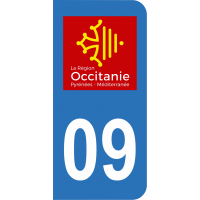 Sticker Immatriculation 09 - Ariège - 2