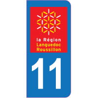 Sticker immatriculation 11 - Aude