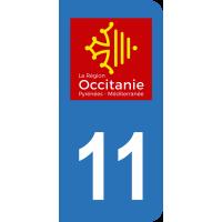 Sticker Immatriculation 11 - Aude - 2