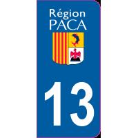 Sticker immatriculation 13 - Bouches-du-Rhône