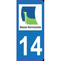 Sticker immatriculation 14 - Calvados