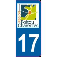 Sticker immatriculation 17 - Charente-Maritime