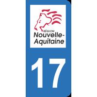Sticker Immatriculation 17 - Charente-maritime - 2