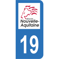 Sticker Immatriculation 19 - Corrèze - 2