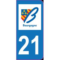 Sticker immatriculation 21 - Côte-d'Or