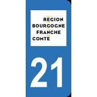 Sticker Immatriculation 21 - Côte-d'or - 2