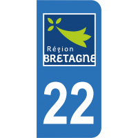 Sticker Immatriculation 22 - Côtes-d'armor - 2