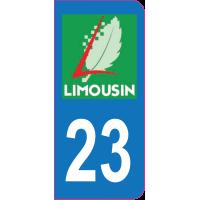 Sticker immatriculation 23 - Creuse