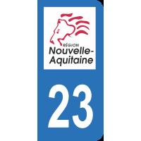 Sticker Immatriculation 23 - Creuse - 2