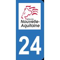 Sticker Immatriculation 24 - Dordogne - 2