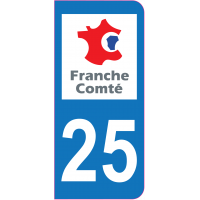 Sticker immatriculation 25 - Doubs