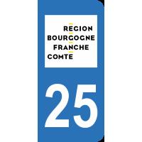 Sticker Immatriculation 25 - Doubs - 2