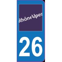 Sticker immatriculation 26 - Drôme