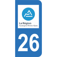 Sticker Immatriculation 26 - Drôme - 2